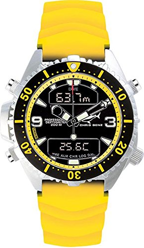 Chris Benz Uhr Taucheruhr Depthmeter Digital CB D200 YS KBY