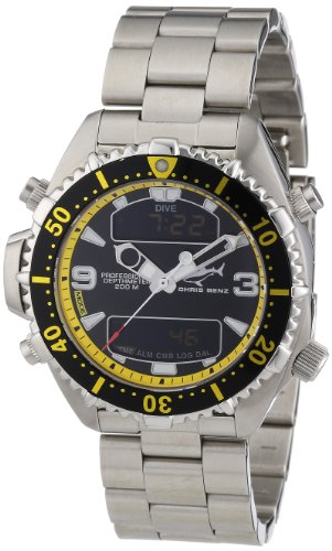 Chris Benz Unisex Armbanduhr Digital Edelstahl CB D BLACKYELLOW MB