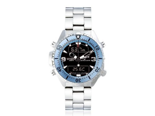 Chris Benz Unisex Armbanduhr Digital Edelstahl CB D LIGHTBLUE MB
