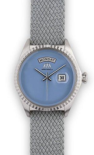 Watch Marco Mavilla Vintage Summer Enamel Blue Serenity Perlon Strap Grey