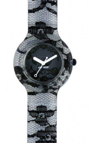 Uhr Hip Hop Pizzo Mon Amour 32 mm HWU0249 Soiree Noir Schwarz mit Zifferblatt schwarz