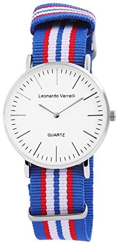 Leonardo Verrelli Herrenuhr Textilarmband L 25cm Dornschliesse 297223300001