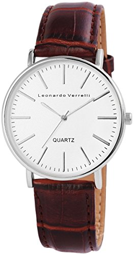 Leonardo Verrelli mit Lederimitationsarmband Uhr 297222100002