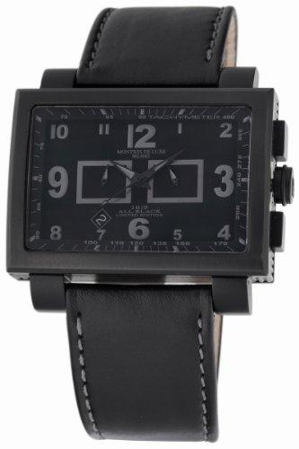Montres De Luxe Herren 1690CR T SCHWARZ 16 09 Estremo Aluminium und schwarzem PVD Chrono Uhr