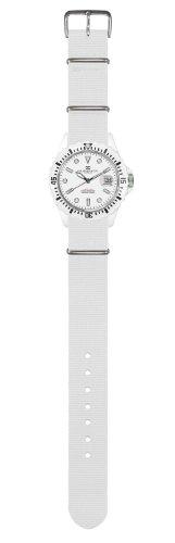 Haeusser Cie Snow White Armbanduhr NATO Band super leicht