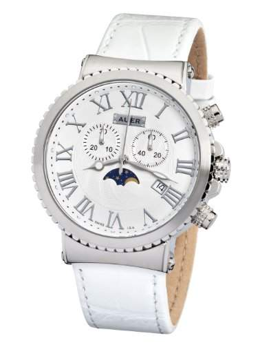 AUER Pearl White AU-711-SWL Herrenchronograph SWISS ISA