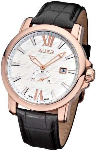 AUER Classic Collection ZU-1139-WDBBRGC Herrenarmbanduhr Swiss Ronda