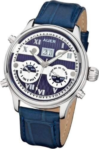 AUER Classic Collection BA-513-BluSBluL Herren Automatikuhr Klassisch schlicht