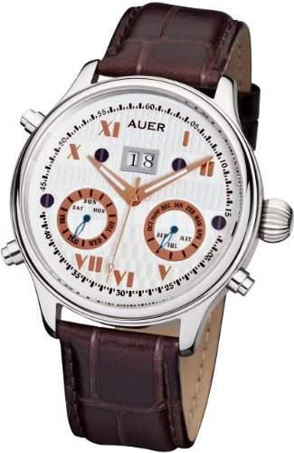 AUER Classic Collection BA-513-SBrL Herren Automatikuhr Klassisch schlicht