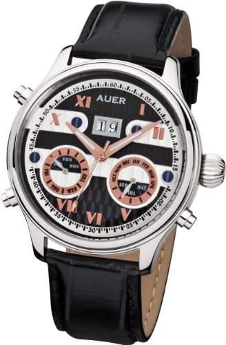 AUER Classic Collection BA-513-BlBlL Herren Automatikuhr Klassisch schlicht