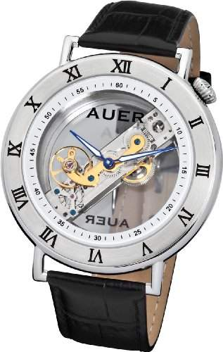 AUER Classic Collection BA-512-WBL Herrenarmbanduhr Baguette Uhrwerk