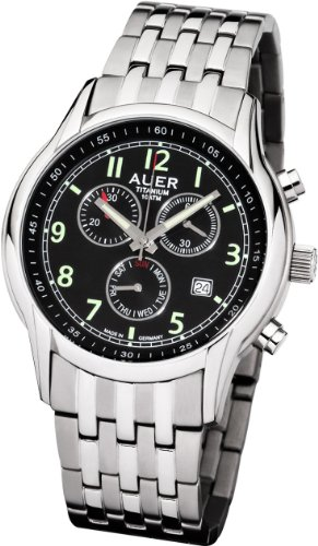 AUER Titanium Classic ZU 411 BMR LU Herrenchronograph Made in Germany