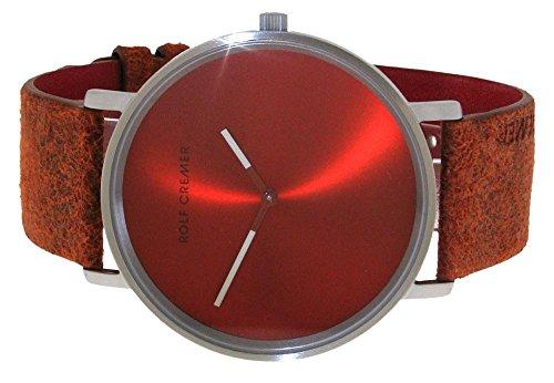 Uhr Analog Quarz Edelstahl Leder Flat 45