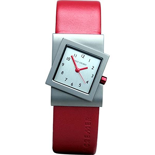 Uhr Turn rot silberfarben