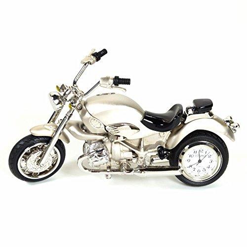 Cosmo 2014106 Miniatur Motorrad Tischuhr Uhr Analog weiss