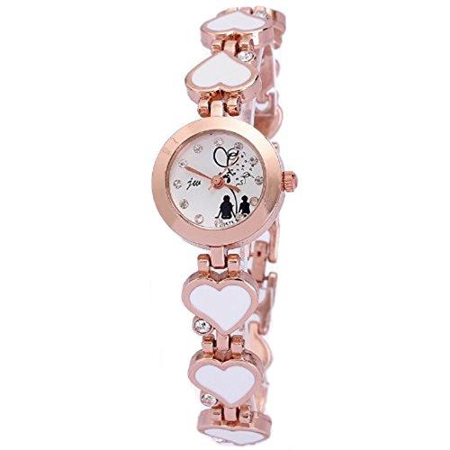 Relogio femenino Tops Frauen neue Modeuhren Damenmode Markenuhr Gold Herz Design Armband