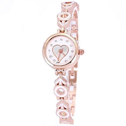 Famous Markenuhren Luxusuhren fuer Frauen Runde Legierung analoge Diamant Herzform rose gold Trend Produkte Uhren