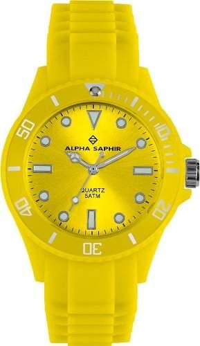 Alpha Saphir Unisex-Armbanduhr 370E, 40 mm gelb