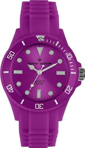 Alpha Saphir Unisex-Armbanduhr 370H, 40 mm violett
