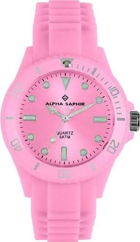 Alpha Saphir Unisex-Armbanduhr 370J, 40 mm rosa
