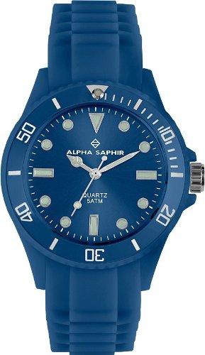 Alpha Saphir Unisex Armbanduhr 370C 40 mm blau