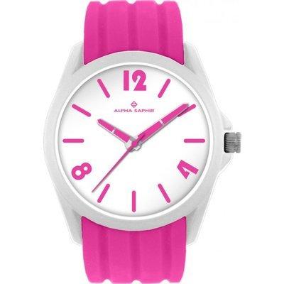 Uhr Analog Quarz Kunststoff Silikon pinkweiss