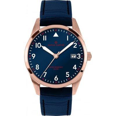Uhr Analog Quarz Edelstahl Leder rose blau