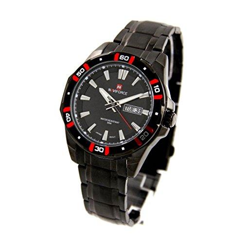 mit Armband Stahl schwarz naviforce 2496