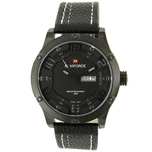 naviforce Armbanduhr Trend Leder schwarz naviforce 1593