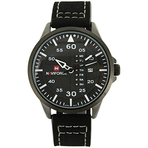naviforce Armbanduhr Trend Leder schwarz naviforce 1267