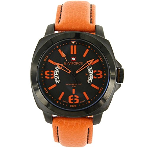 naviforce Zeigt Fashion Herren Leder orange naviforce 1284