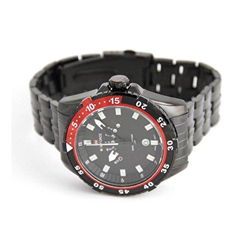 Zeigt Herren Armband mit Stahl schwarz naviforce 2151