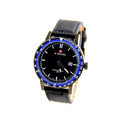 Zeigt Herren Armband Leder schwarz naviforce 759