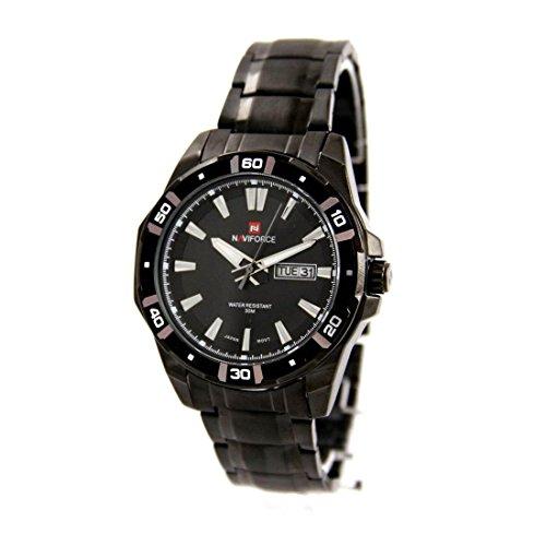 Zeigt Herren Armband mit Stahl schwarz naviforce 2544