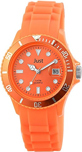 Just Silikon Armbanduhr 39mm Orange 48 S5456 OR