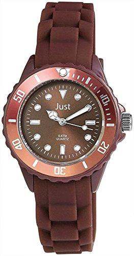 Just Silikon Armbanduhr 36mm Braun 48 S5459 DBR