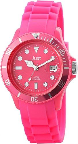 Just Unisexuhr Silikon Armbanduhr 44mm Pink 48 S5457 PI