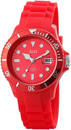 Just Unisexuhr Silikon Armbanduhr 44mm Rot 48 S5457 RD