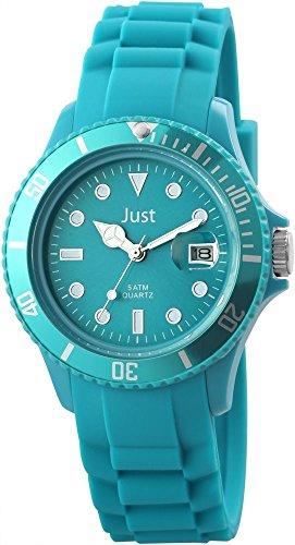 Just Unisexuhr Silikon Armbanduhr 44mm Blau 48 S5457 HBL