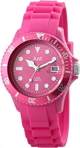 Just Unisexuhr Silikon Armbanduhr 44mm Hot Pink 48 S5457 HPI