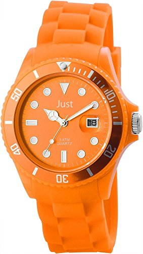 Just Unisexuhr Silikon Armbanduhr 44mm Orange 48 S5457 OR