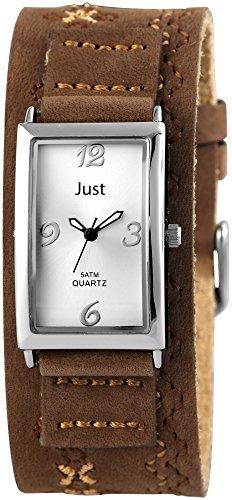 Just Watches Damen Armbanduhr Analog Quarz Leder 48 S10627 WH BR