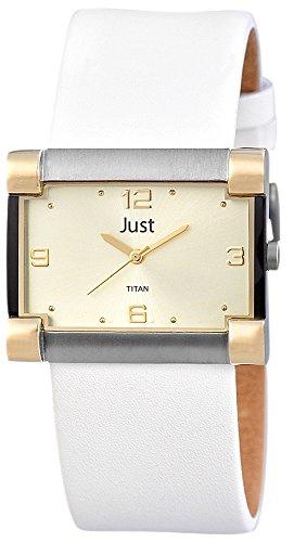 Just Watches Analog Quarz Leder 48 S32032GD GD