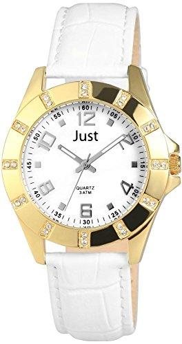 Just Watches Analog Quarz Leder 48 S3928 GD