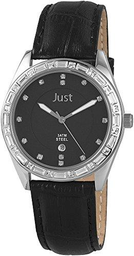 Just Watches Analog Quarz Leder 48 S8262A BK