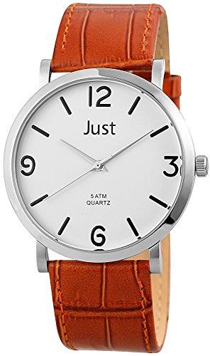 Just Watches XL Analog Quarz Leder 48 S10307BR WH