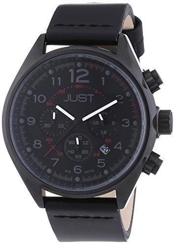 Just Watches XL Analog Quarz Leder 48 S10780 BK YL