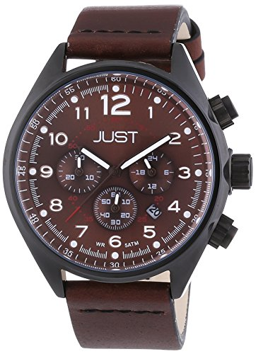 Just Watches XL Analog Quarz Leder 48 S10780 DBR