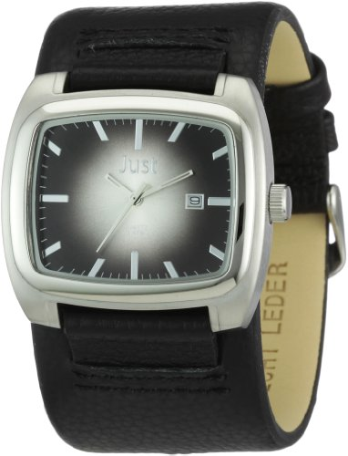 Just Watches Herren Armbanduhr XL Analog Leder 48 S1920 BK