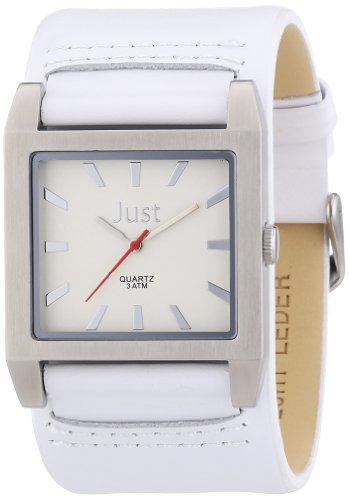 Just Watches Herren Armbanduhr XL Analog Leder 48 S2524G WH